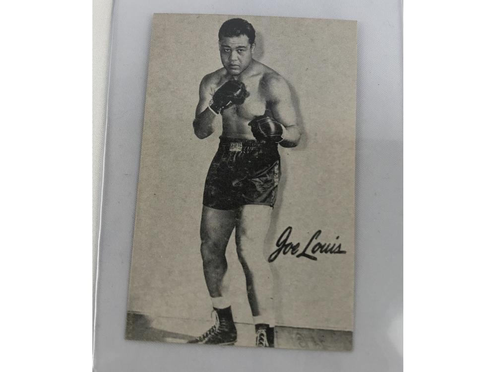 Pair Of 1947 Bond Bread Boxing (joe Louis)