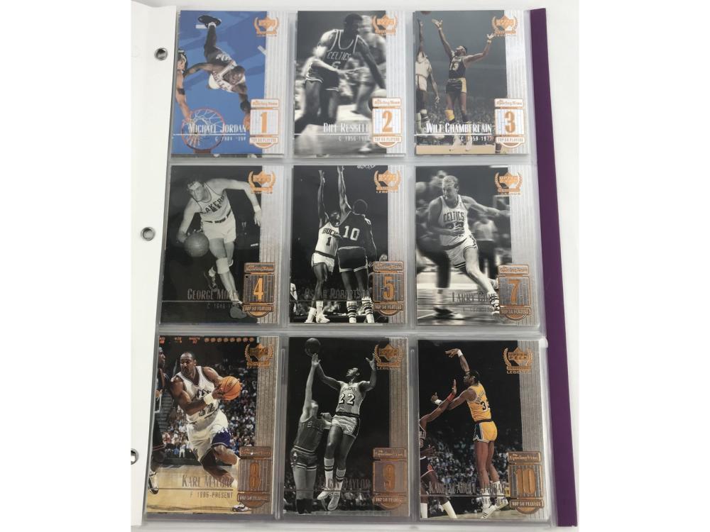 """(50/50) 1999 Ud Basketball Set """"century Legends"""" )"""