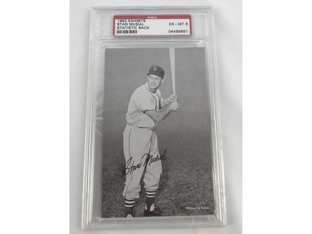 Psa 6 1962 Exhibits Stat Back - Stan Musial