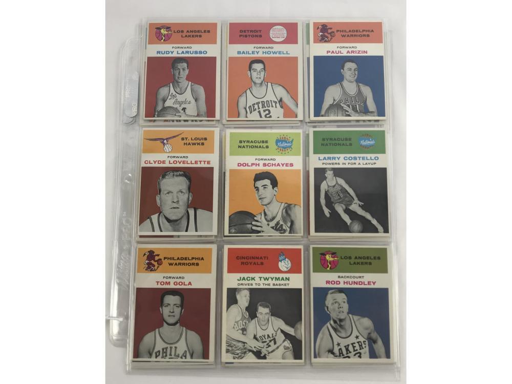31 1961 Fleer Basketball Cards Bv $695