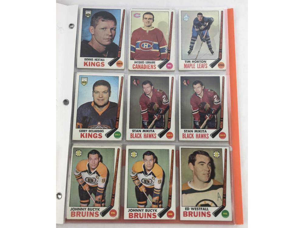 (34) 1969 Topps Hockey Group (hofs)