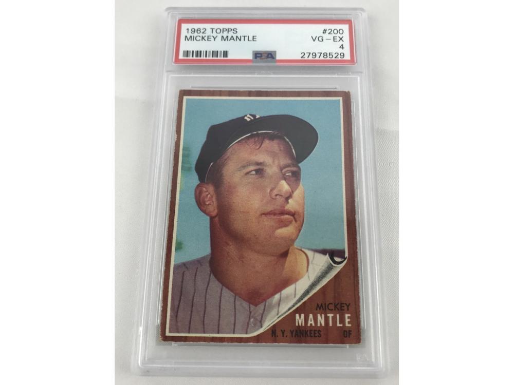 1962 Topps Mickey Mantle Psa 4