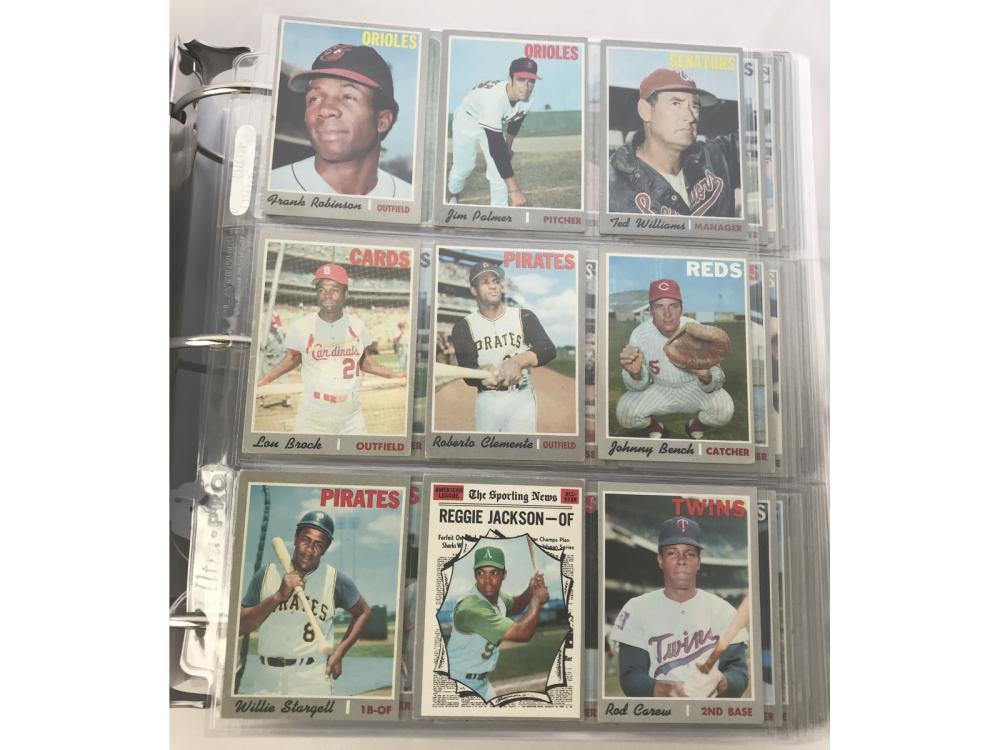 987 1970 Topps Baseball Cards