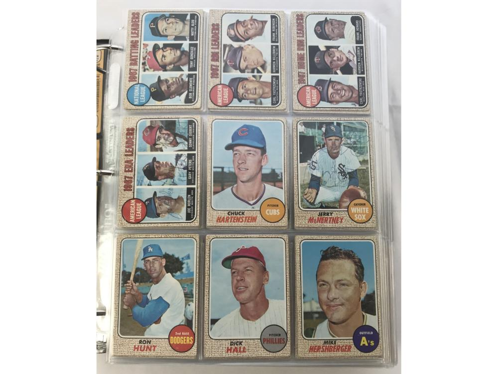 Near Complete Set Of 1968 Topps Baseball Cards