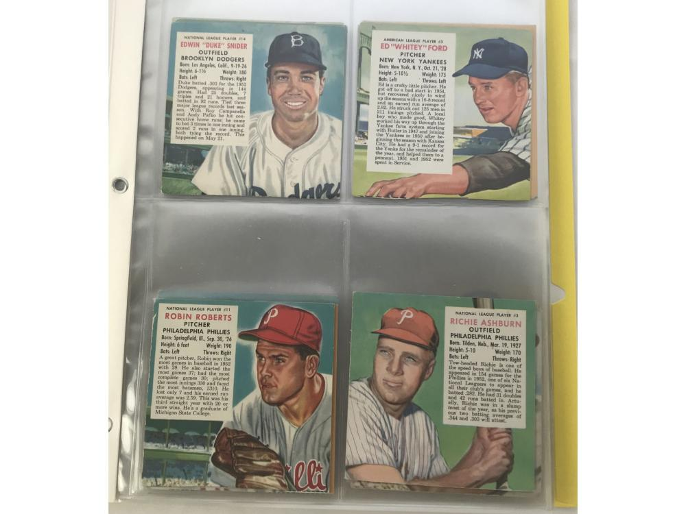 37 1953-1955 Red Man Cards No Tabs