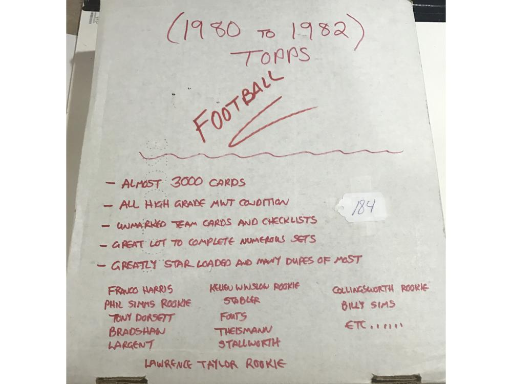 Over 3000 Topps Football Cards 1980-1982