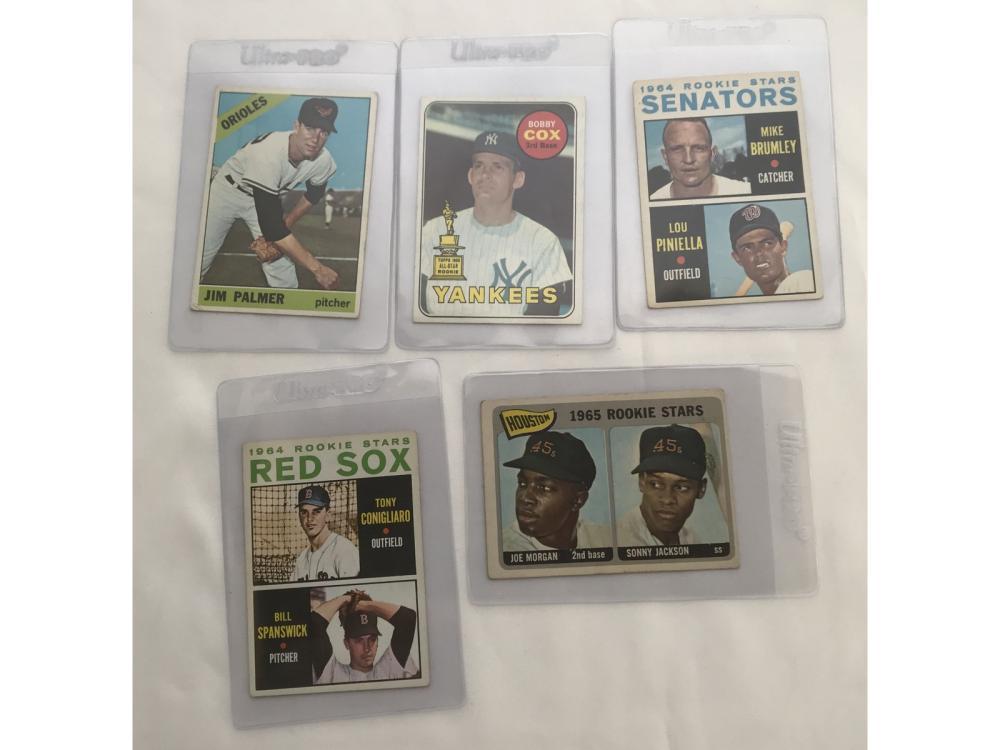 (5) 60s Baseball Rookies (palmer/morgan)