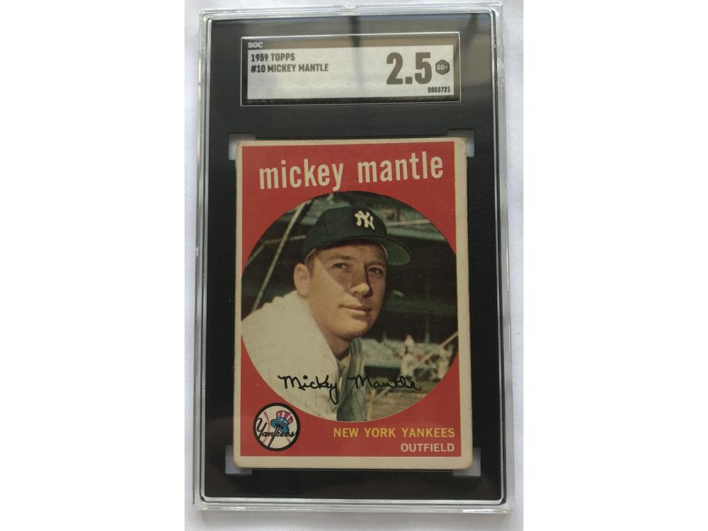 Sgc 2.5 - 1959 Topps Mickey Mantle #10