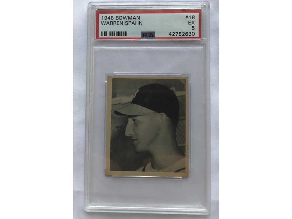 Psa 5-1948 Bowman Baseball Warren Spahn Rc