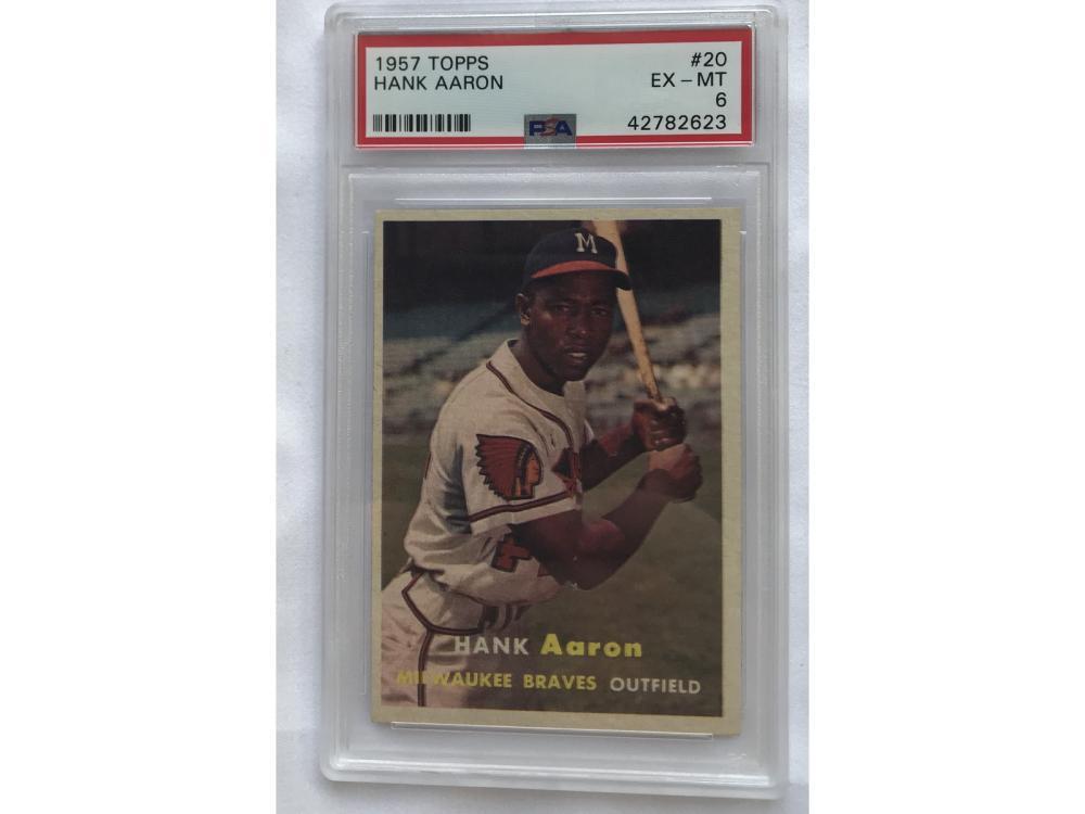 Psa 6 (ex-mt) 1957 Topps Baseball Hank Aaron