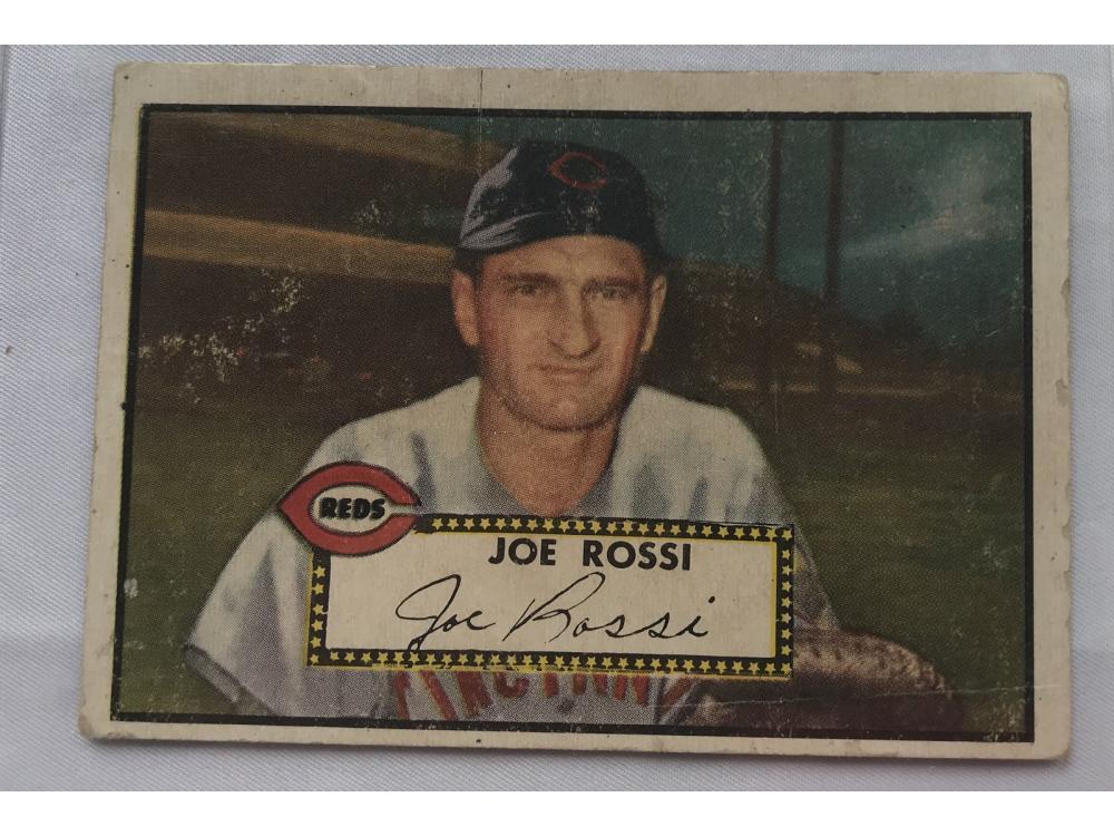 1952 Topps Joe Rossi High Number Vg Plus