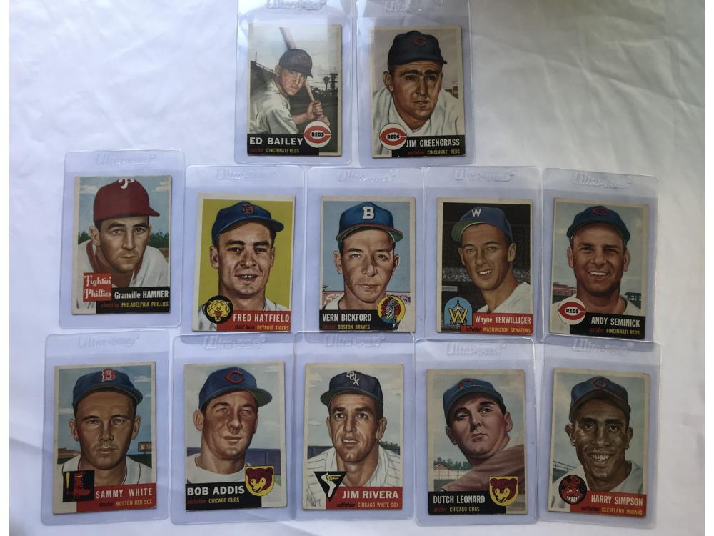 (38) Crease Free 1953 Topps Baseball Cards