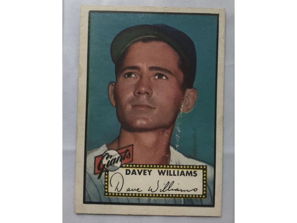 1952 Topps Davey Williams High Number Vg Plus