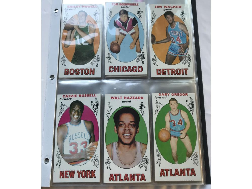 (50) 1969 Topps Basketball Collection With Stars