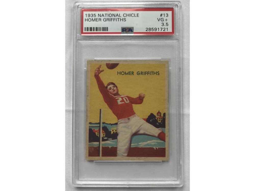 1935 National Chicle Homer Griffiths Psa 3.5