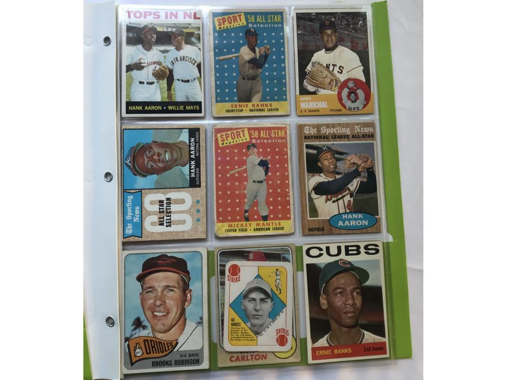 (18) 1950s-60s Baseball Hofs (mantle/aaron)