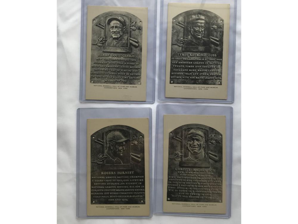 (8) 1953-55 Artvue Baseball Hof Postcards