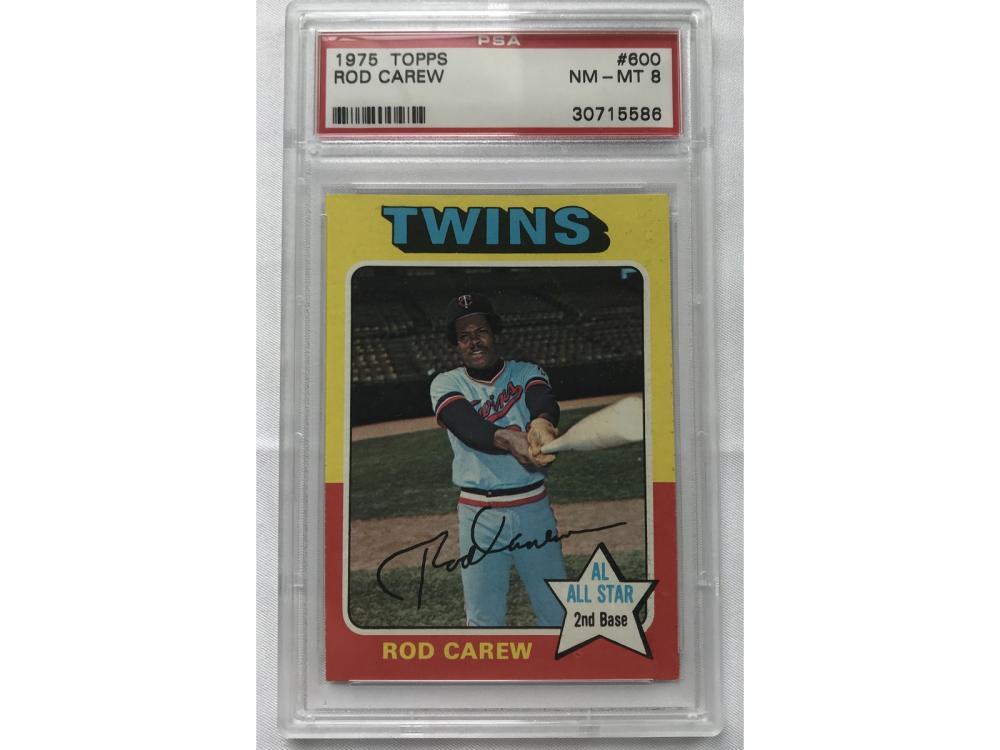 1975 Topps Rod Carew Psa 8