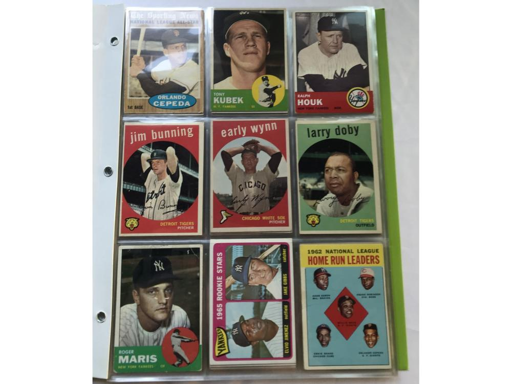 (93) 50s/60s Baseball Hofs/stars
