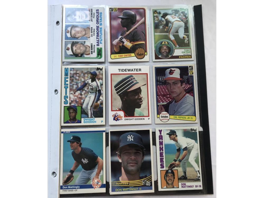 (18) 1980s Topps Rookies (mattingly/ripken)