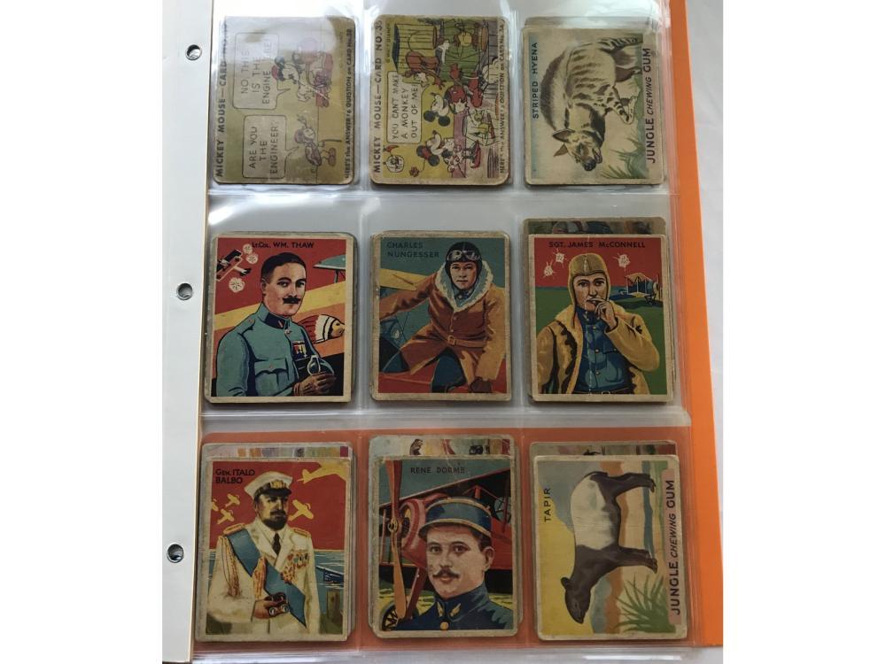 (33) 1930s Non Sport Gum Cards
