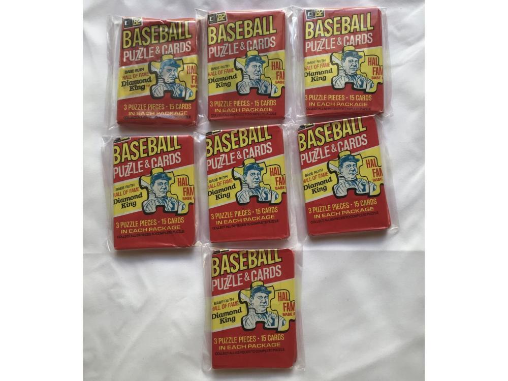 (7) 1982 Donruss Baseball Wax Packs (ripken Rcs)