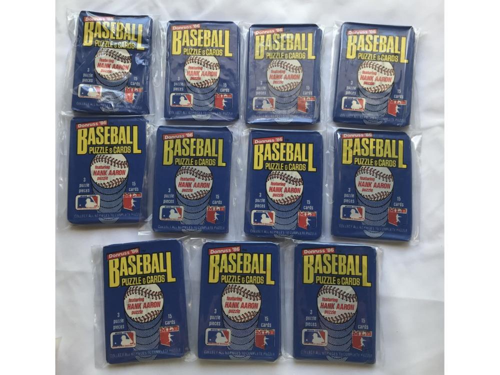 (15) 1985-86 Donruss Baseball Wax Packs