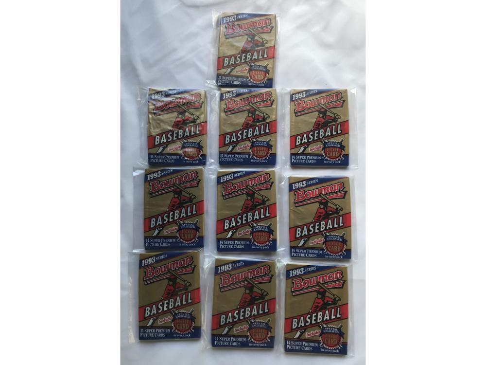 (10) 1993 Bowman Baseball Wax Packs (jeter Rc)