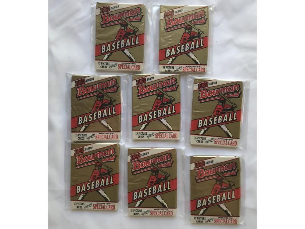 (8) 1992 Bowman Baseball Wax Packs (rivera Rc)