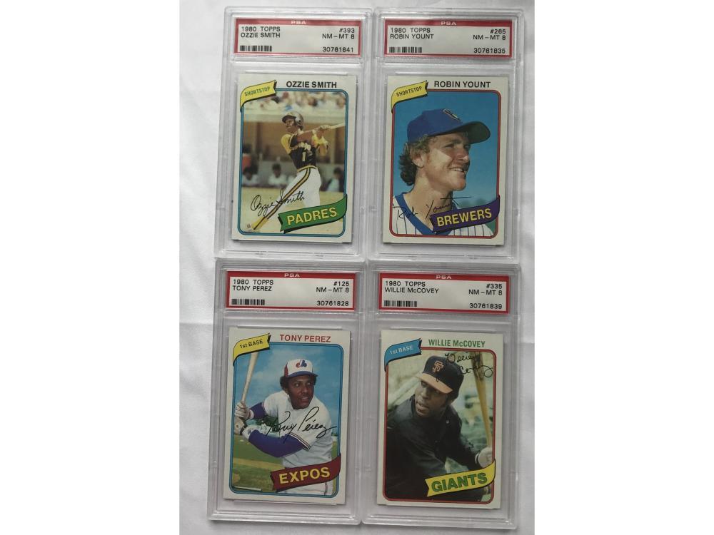 4 1980 Topps Psa 8 Cards