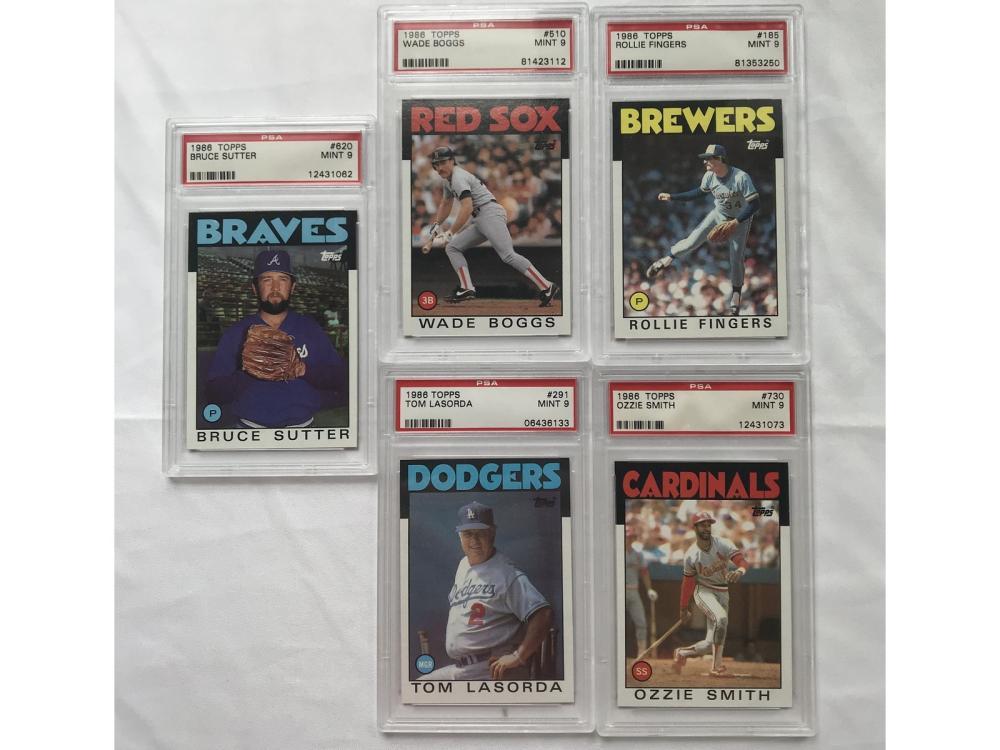 5 1986 Topps Psa 9 Cards