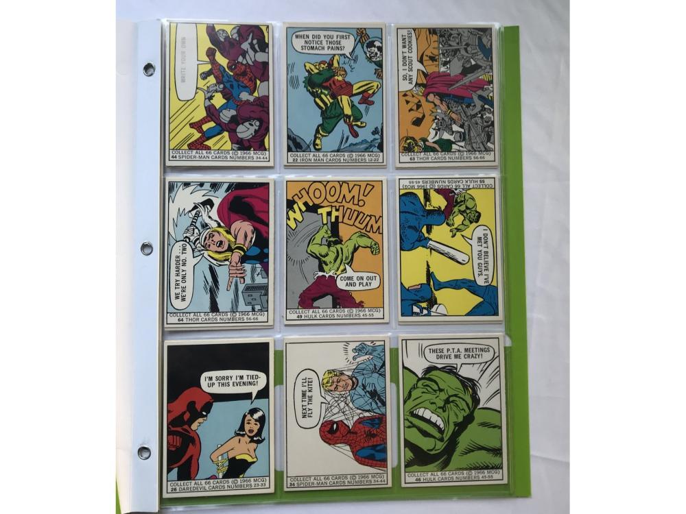 (17) High Grade 1966 Donruss Marvel