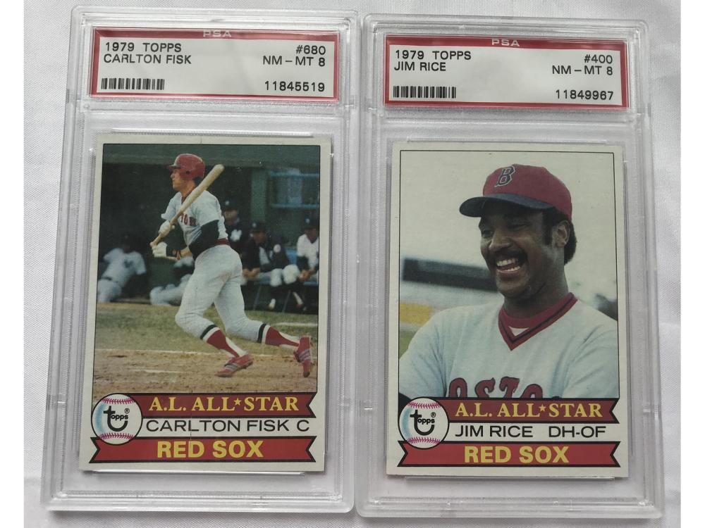 Two 1979 Topps Psa 8 Red Sox Cards