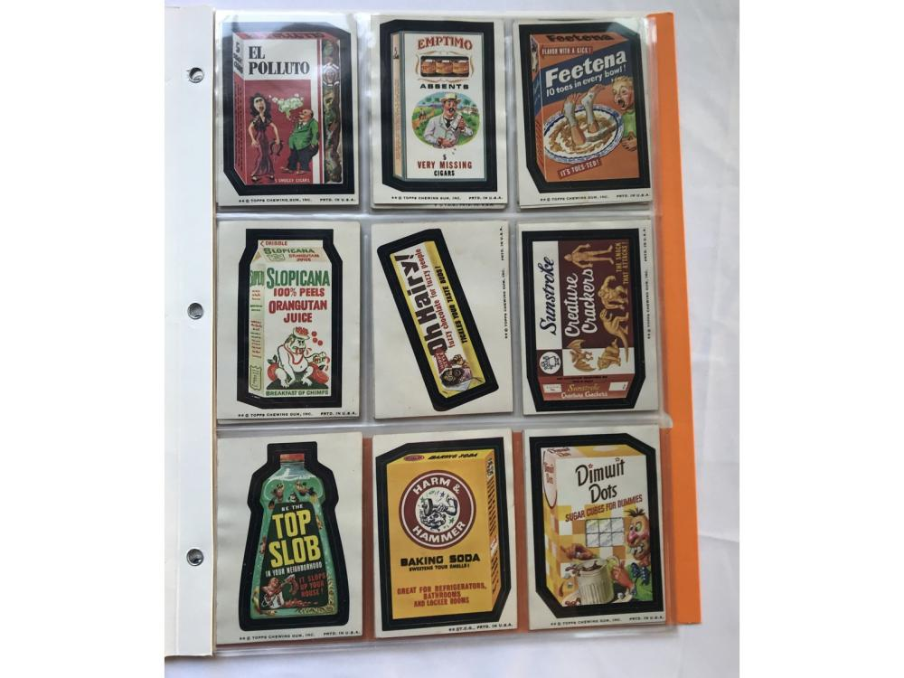 (33) 70s Topps Wacky Packages Stickers
