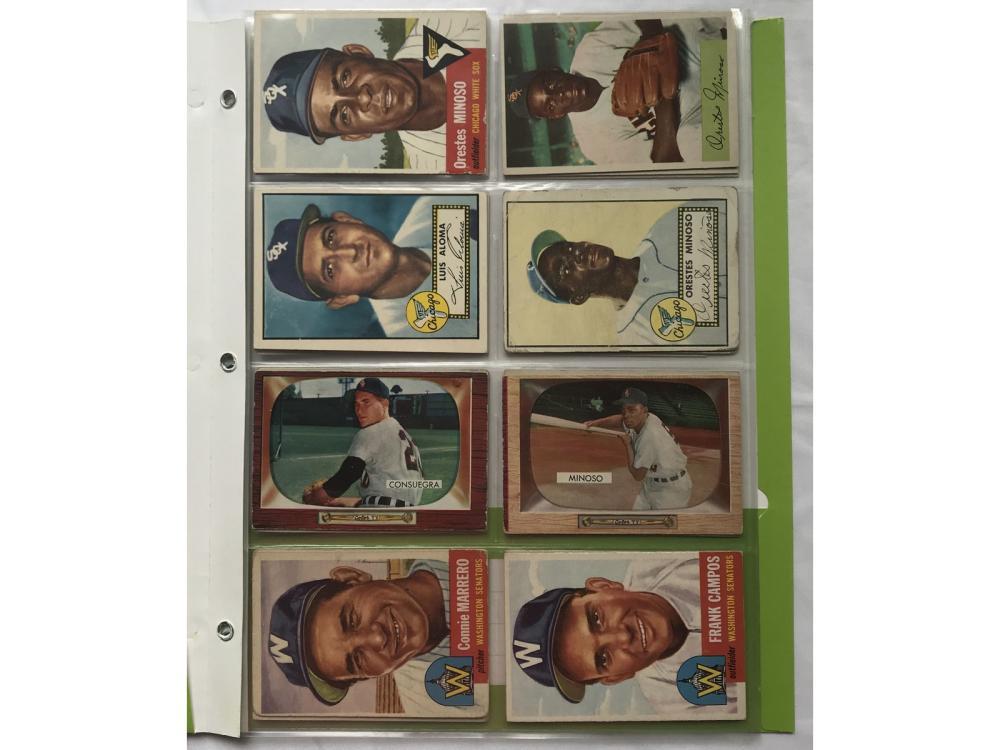 (21) 1950s Topps/bowman Cuban Baseball