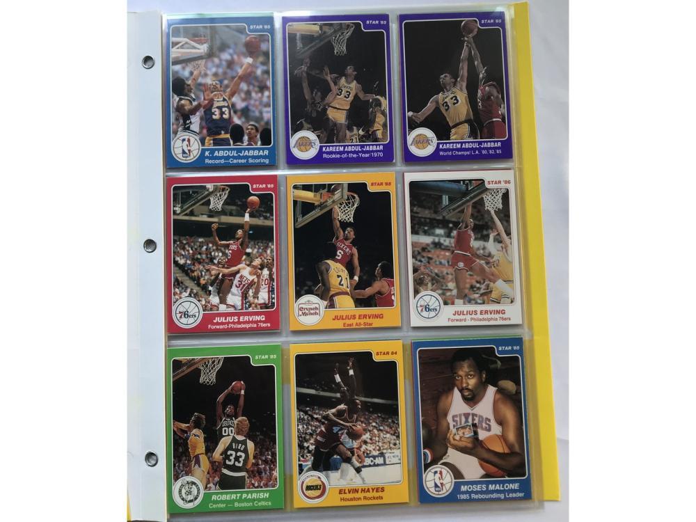 (40) Star Basketball Hof Lot (erving/jabbar)