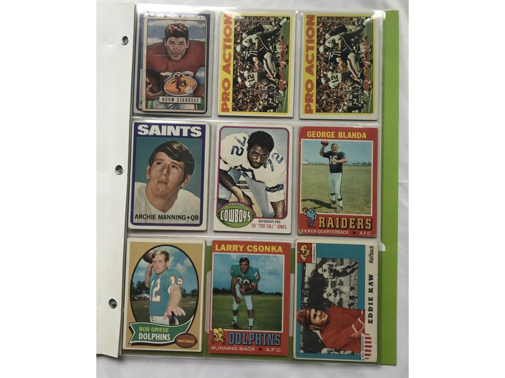 (18) 60s/70s Football Stars/hofs