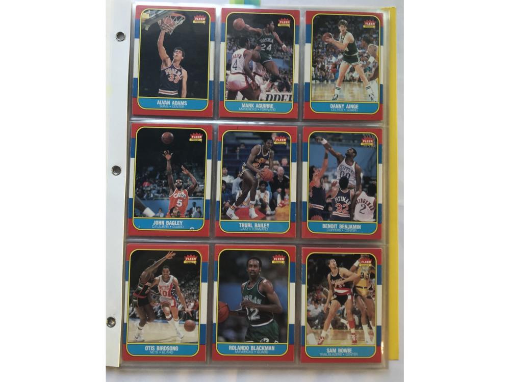 (96/132) 1986 Fleer Basketball Partial Set