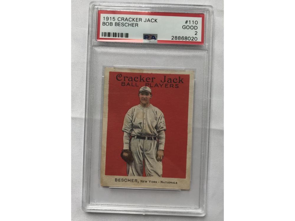 1915 Cracker Jack Bob Bescher Psa 2