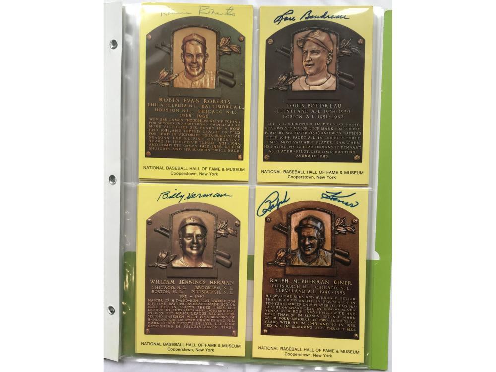 (10) Jsa Certified Autographed Hof Plaques