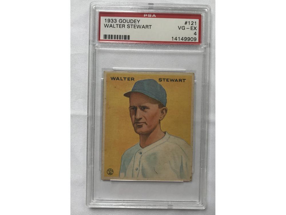 1933 Goudey Walter Stewart Psa 4