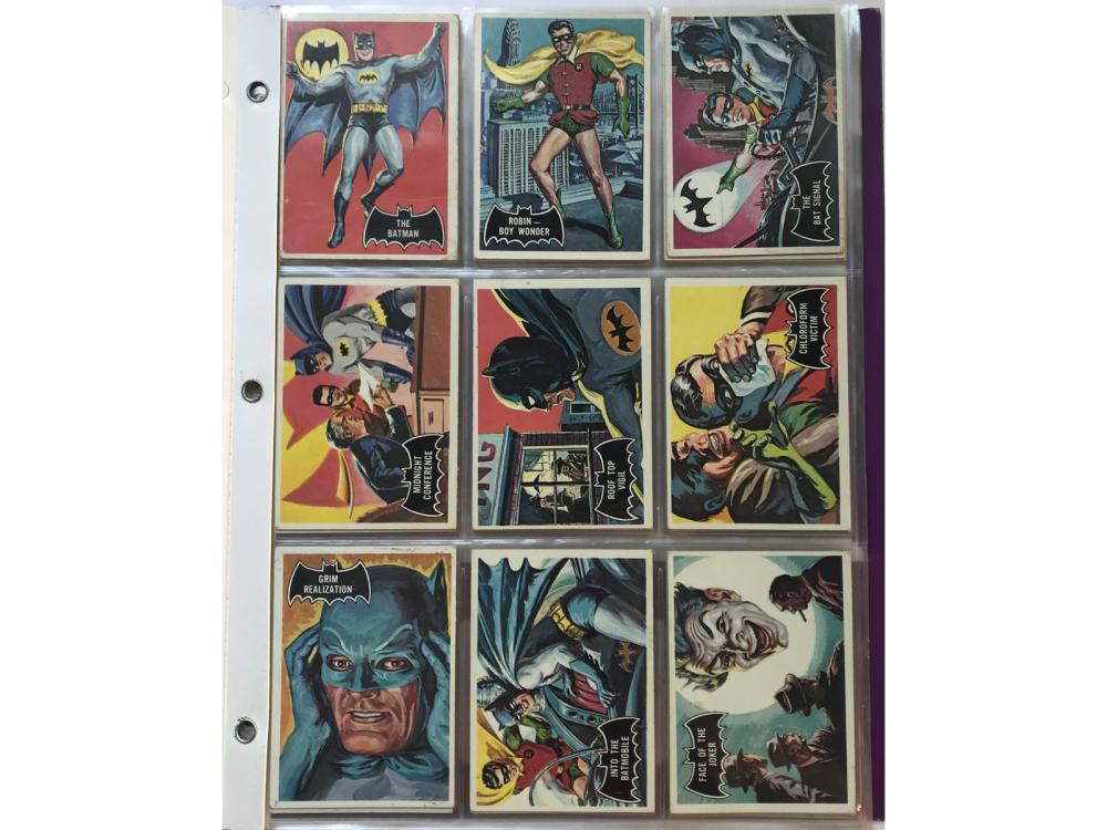 "1966 Topps ""black Bat"" Batman Complete Set"