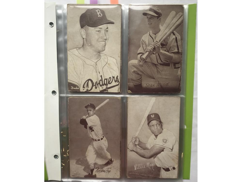 (33) 1947-66 Baseball Exhibits Hofs