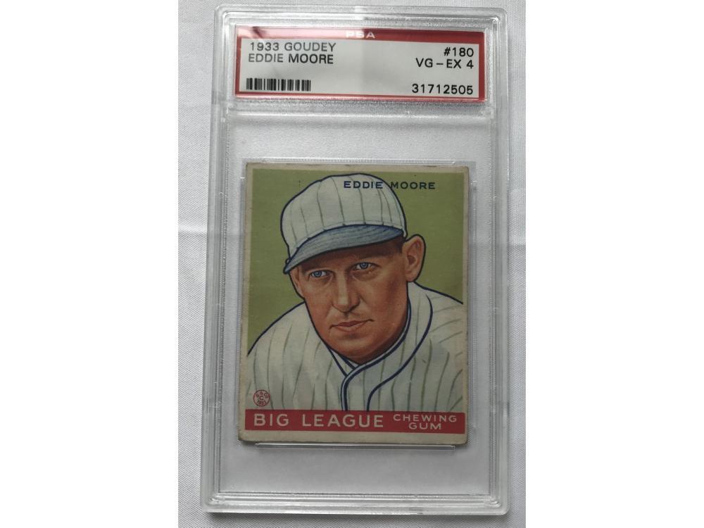 1933 Goudey Eddie Moore Psa 4