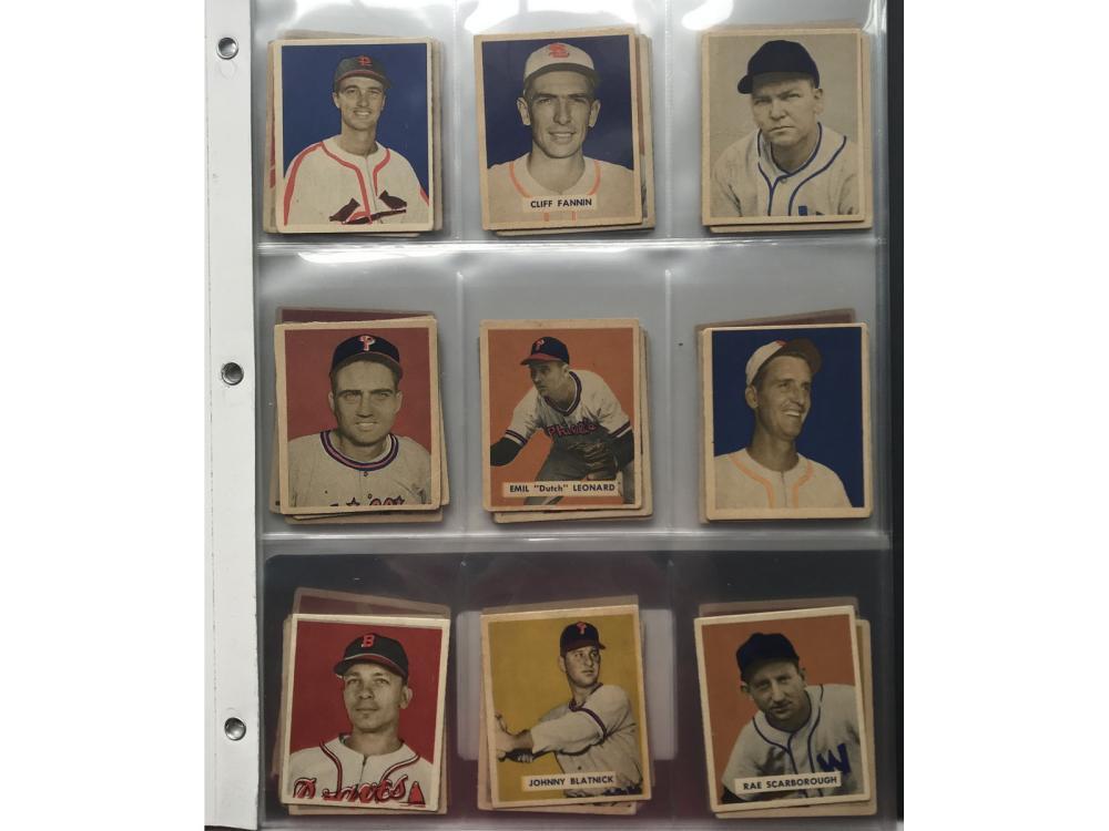 (57) Different 1949 Bowman Baseball Cards
