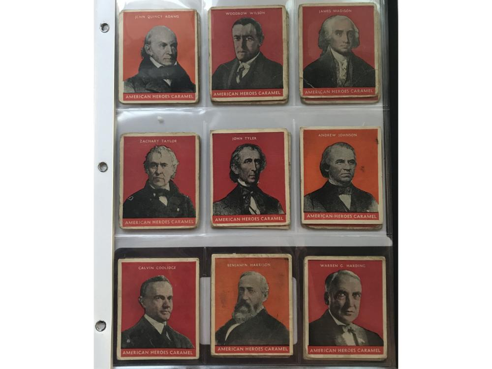 (24) 1933 U.s. Caramel President Cards (r114)