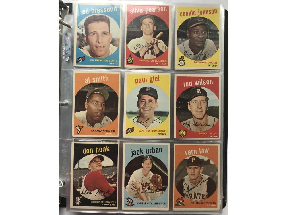 363 1958-1959 Baseball Cards