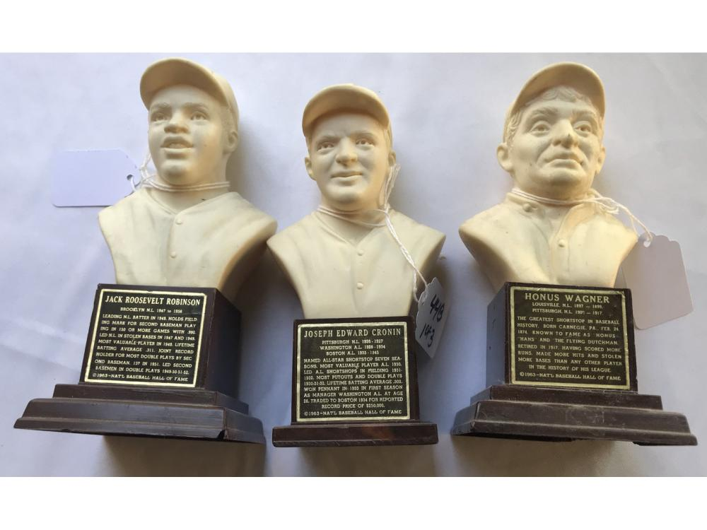 (3) 1963 Baseball Hof Busts: Robinson/wagner