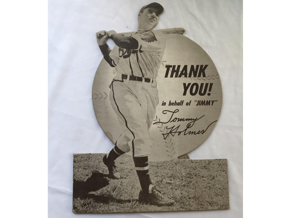1949 Jimmy Fund Braves Stand Up: Tommy Holmes