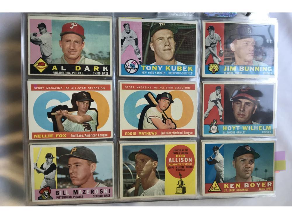 (540) 1960 Topps Baseball: Hofs/stars (mostly Ex )